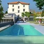 projet, architecte, piscine