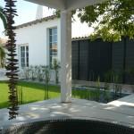 terrasse, jaccuzzi, maison