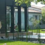 veranda, jardin, paysager