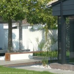 terrasse, aménagement, paysager