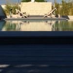 piscine, transat, soleil