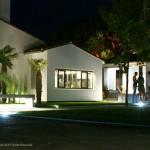 éclairage, maison, jardin