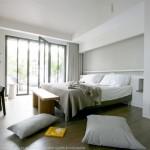 chambre, lit, île de ré