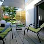 salon, terrasse, soleil