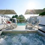 terrasse, piscine, soleil
