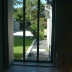 jardin, fenêtre, maison