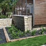 aménagement paysager, murs, jardin