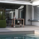 piscine, terrasse, maison