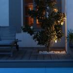 nuit, éclairage, piscine