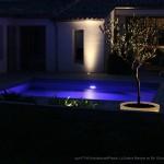 terrasse, piscine, nuit