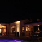 maison, nuit, île de ré