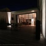 terrasse, lumière, éclairage