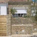 mur, jardin, architecte