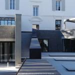 architecte, maison, extérieur