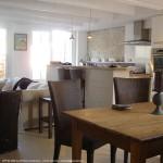 salle à manger, table, intérieur