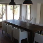 salle à manger, chaises, table