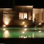 éclairage, maison, piscine